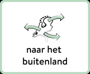 kaart van Nederland met pijlen over de grens