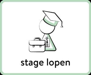 student met tas die op stage gaatn kaart