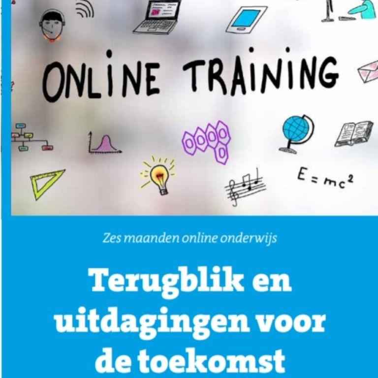 Kaft magazine artikel terugblik 6 maanden online onderwijs