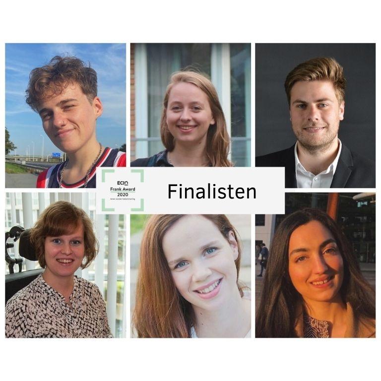 profielfoto's zes genomineerden