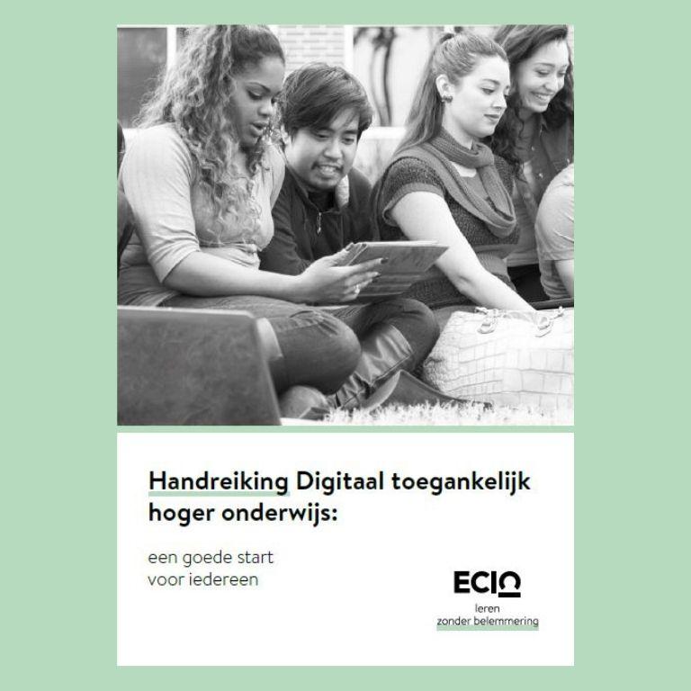 Afbeelding brochure digitaal toegankelijk hoger onderwijs een goede start voor iedereen