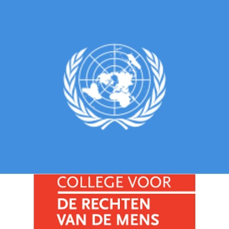 Afbeelding logo's VN-verdrag en College rechten van de mens