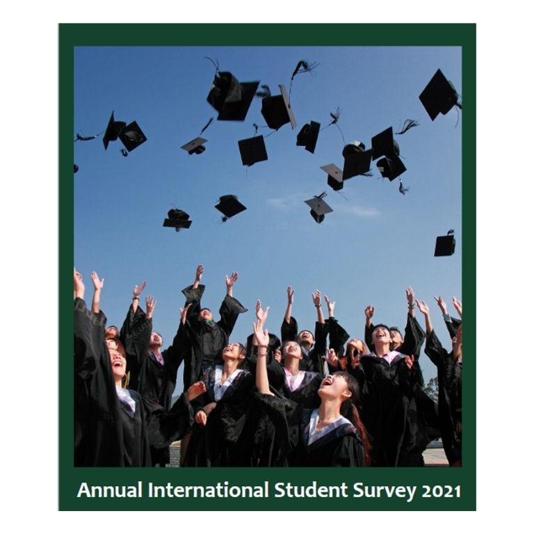 Afbeelding kaft rapport Annual International Student Survey 2021