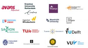16 logo's van hoger onderwijsinstellingen die intentieverklaring VN-verdrag hebben ondertekend
