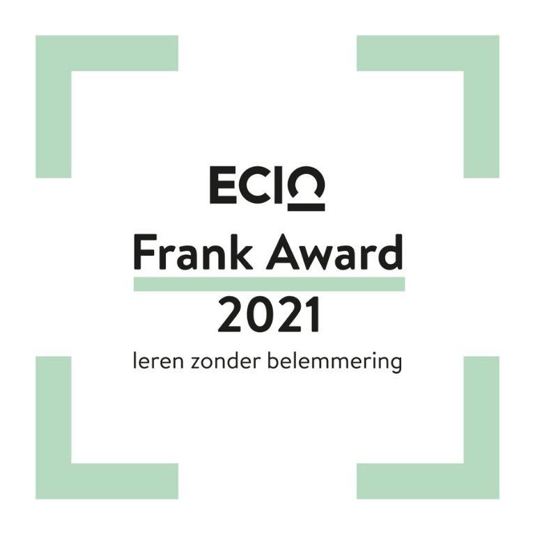 groen kader met tekst ECIO Frank Award 2021